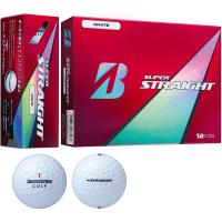 ブリヂストン SUPER STRAIGHT スーパーストレート ボール 1ダース(12個入り) ホワイト