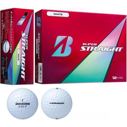 ブリヂストン SUPER STRAIGHTスーパーストレート ボール 1ダース(12個入り) ホワイト