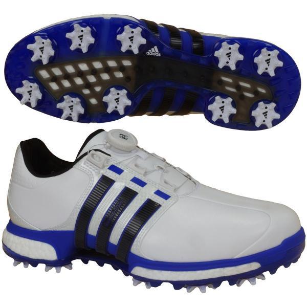 219c5a5d99653 アディダス Adidas TOUR360 BOA BOOST X シューズ Q449 24.5cm ホワイト/ブルー/コアブラック ...