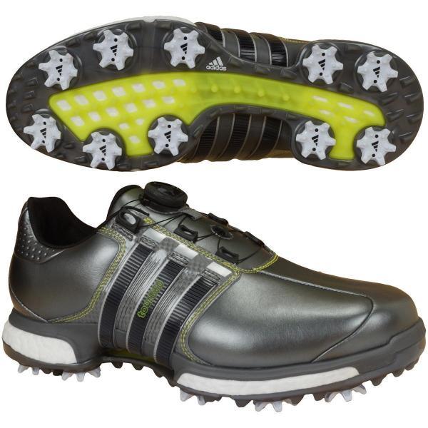 アディダス Adidas TOUR360 BOA BOOST X シューズ Q449 24.5cm ダークシルバーメタリック/コアブラック/ダークシルバーメタリック Q44970