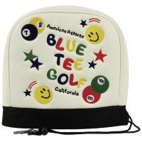 ブルーティーゴルフ BLUE TEE GOLFスマイル&ピンボール アイアンフードカバー ホワイト