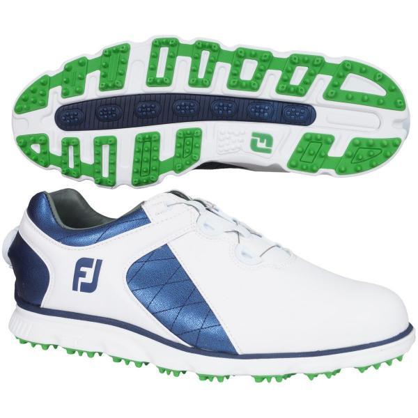 フットジョイ Foot Joy 17 プロSL ボア シューズ 56852 25cm ホワイト/ブルー