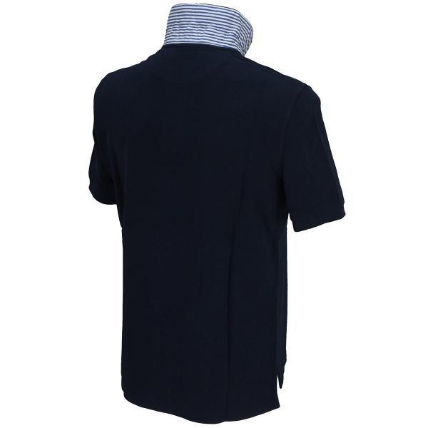 サイコバニー PSYCHO BUNNY 衿裏ロンドンストライプ半袖ポロシャツ P5F01GI