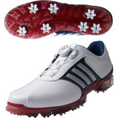 アディダス Adidas ピュアメタル ボア プラス シューズ 26cm ホワイト/シルバーメタリック/パワーレッド Q44895