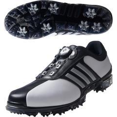 アディダス Adidasピュアメタル ボア プラス シューズ 24.5cm ホワイト/シルバーメタリック/コアブラック Q44896