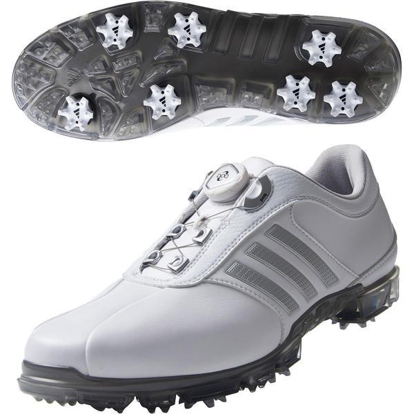 アディダス Adidas ピュアメタル ボア プラス シューズ 24.5cm ホワイト/シルバーメタリック/ダークシルバーメタリック Q44897