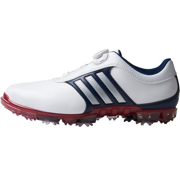 アディダス Adidas ピュアメタル ボア プラス シューズ 25.5cm ホワイト/シルバーメタリック/パワーレッド Q44895