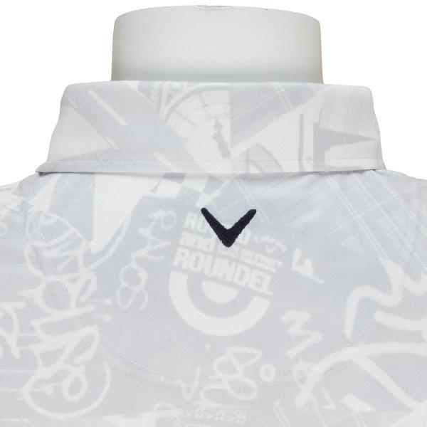 キャロウェイゴルフ Callaway Golf コラージュプリント鹿の子ワイドカラー半袖ポロシャツ 241-7257505