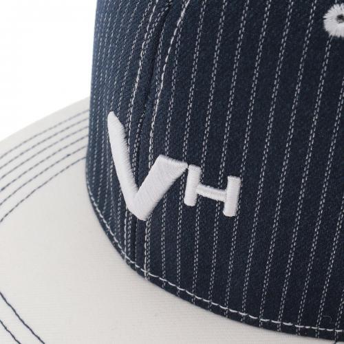 ビバハート VIVA HEART ストライプ フラットブリムキャップ 013-56834