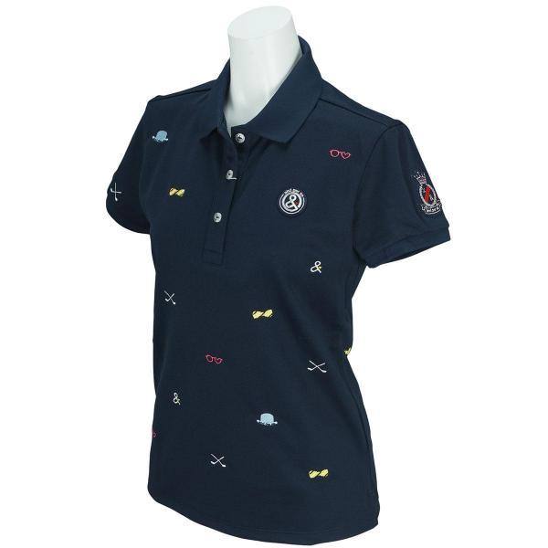 アンパスィ and per se 半袖ポロシャツ 9717FF-P1 レディス
