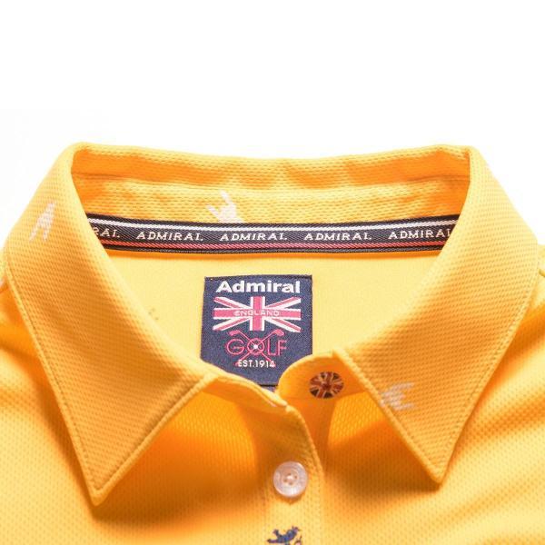 アドミラル Admiral 総柄千鳥ランパント長袖ポロシャツ ADLA799 レディス