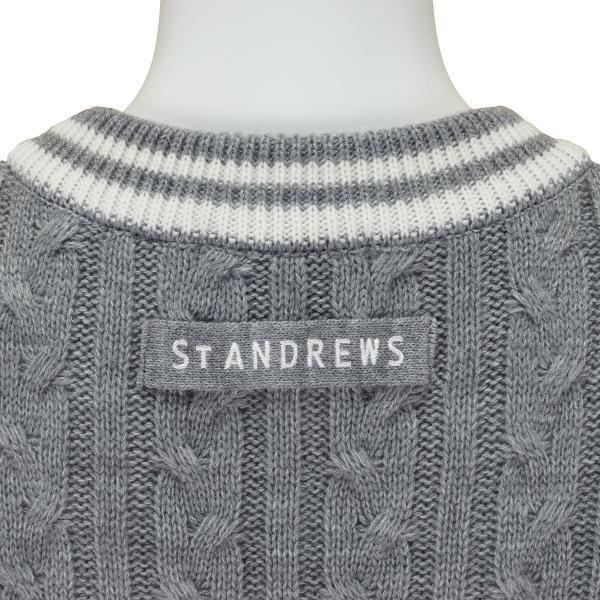 セント・アンドリュース St ANDREWS WHITE LABEL ニットベスト 043-7273001 レディス