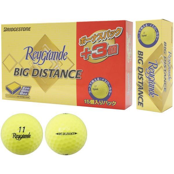 ブリヂストン Reygrandeレイグランデ ビッグディスタンス ボール ボーナスパック 15個入り 15個入り イエロー