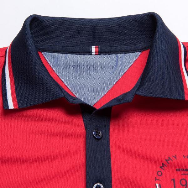 トミー ヒルフィガー ゴルフ TOMMY HILFIGER GOLF 袖配色 半袖ポロシャツ THMA752