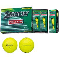 ダンロップ SRIXON TRI-STAR2 ボール 1ダース(12個入り) プレミアムパッションイエロー