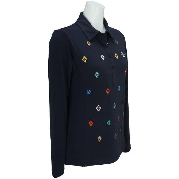 マンシングウェア Munsingwear ストレッチ長袖ニットポロシャツ JWLK118 レディス
