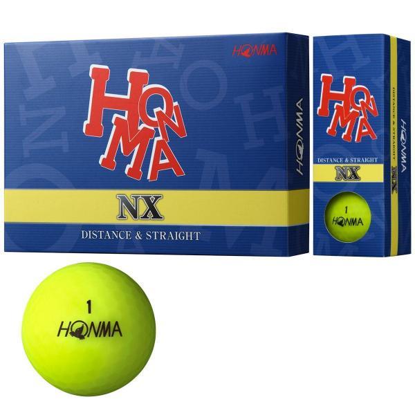 本間ゴルフ HONMANX ボール 1ダース(12個入り) イエロー