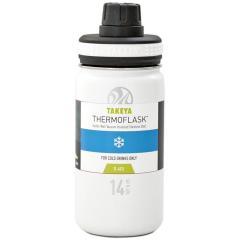 タケヤ TAKEYA サーモフラスク 0.4L 真空ステンレスボトル 保冷専用 TFK-14 ホワイト