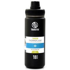 タケヤ TAKEYA サーモフラスク 0.52L 真空ステンレスボトル 保冷専用 TFK-18 ブラック