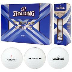 スポルディング SPALDINGツアーコンプ スーパーVX ボール 1ダース(12個入り) ホワイト 【非公認球】