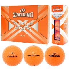 スポルディング SPALDINGツアーコンプ スーパーVX ボール 1ダース(12個入り) オレンジ 【非公認球】