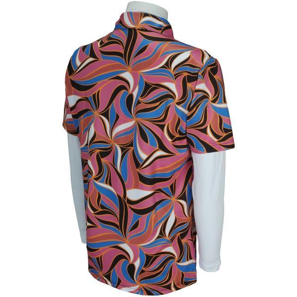 ラウドマウスゴルフ Loud Mouth Golf 長袖ハイネックアンダーシャツ付き半袖ポロシャツ