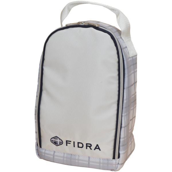フィドラ FIDRA チェック総柄シューズケース