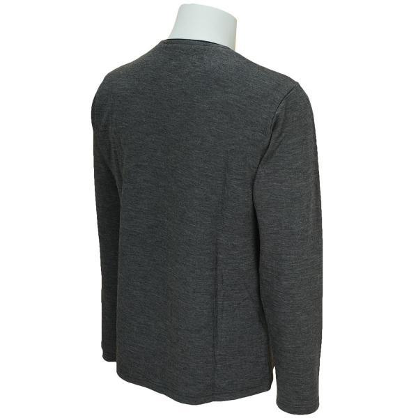 ビーヌーヴォ B.NUOVO 二枚衿丸首長袖Tシャツ