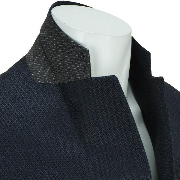ビーヌーヴォ B.NUOVO 小紋柄二つ釦ジャケット