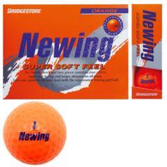 ブリヂストン NEWINGニューイング SUPER SOFT FEEL ボール 1ダース(12個入り) オレンジ