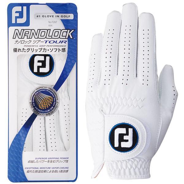 フットジョイ Foot Joy ナノロックツアーグローブ 5枚セット 26cm 左手着用(右利き用) ホワイト