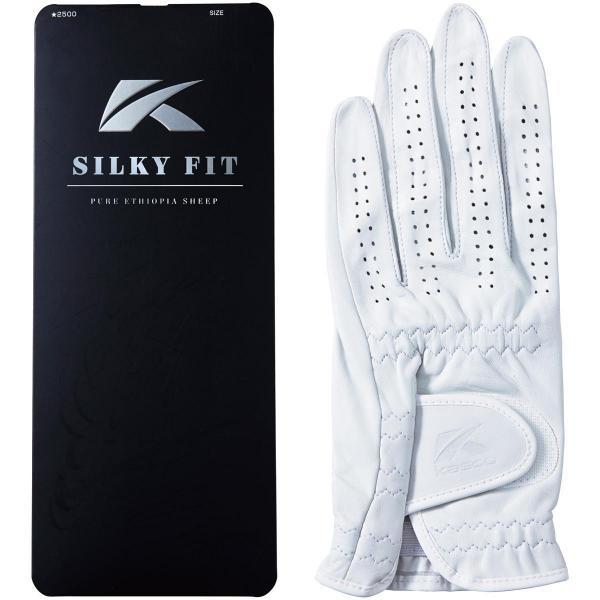 キャスコ KASCO シルキーフィットグローブ レギュラーサイズ 5枚セット 28cm 左手着用(右利き用) ホワイト