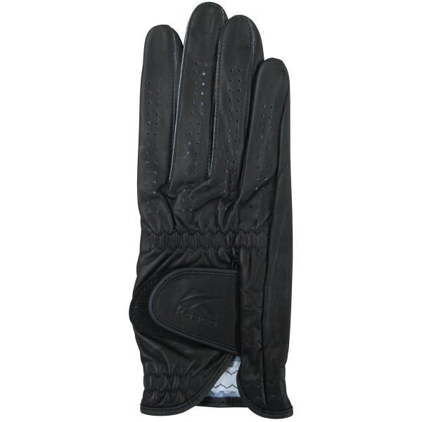 キャスコ KASCO シルキーフィットグローブ レギュラーサイズ レフティ 5枚セット 22cm 右手着用(左利き用) ブラック
