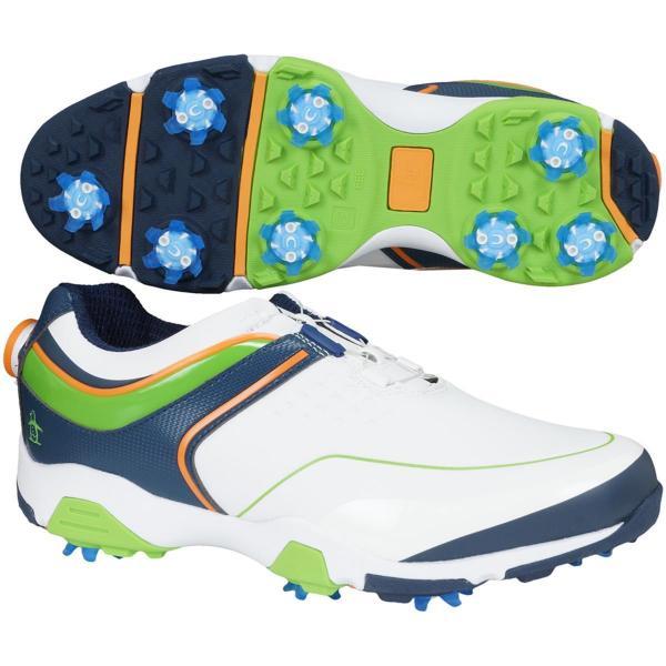 マンシングウェア Munsingwear ゴルフシューズ 24.5cm ホワイト/グリーン