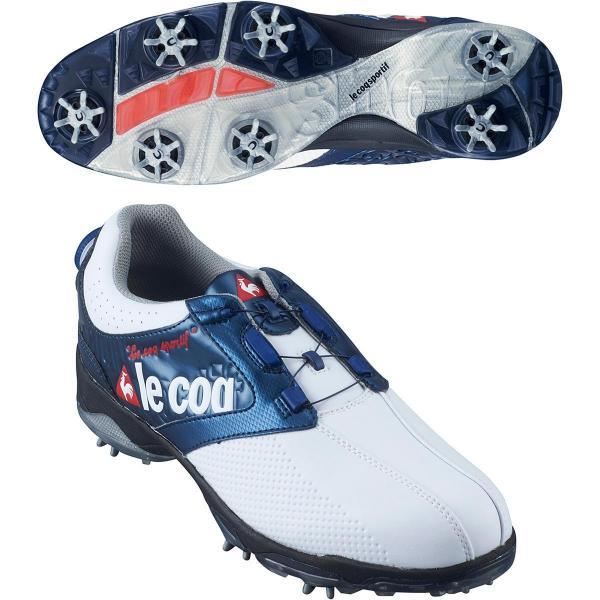 ルコックゴルフ Le coq sportif GOLF ゴルフシューズ 25.5cm ホワイト/ネイビー