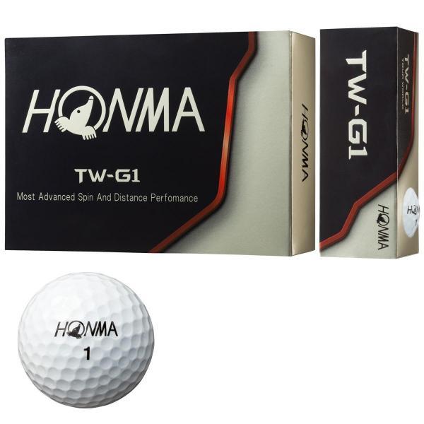 本間ゴルフ HONMA TW-G1 ボール 1ダース(12個入り) ホワイト
