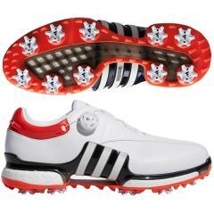 アディダス Adidasツアー360 EQT ボアシューズ 27cm ホワイト/コアブラック/ハイレスレッド