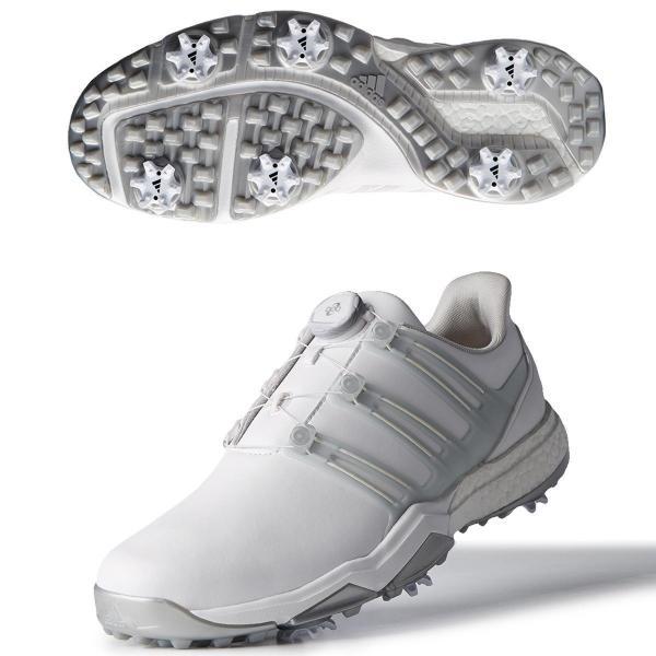 アディダス Adidas パワーバンド ボア ブーストシューズ 25.5cm ホワイト/シルバーメタリック/シルバーメタリック