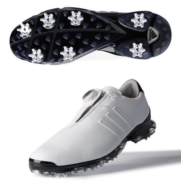 アディダス Adidas アディピュア レイ ボア 2.0シューズ 27cm ホワイト/コアブラック/コアブラック