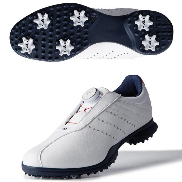 アディダス Adidasドライバー ボア 2.0シューズ 23cm ホワイト/スカーレット/カレジエイトネイビー レディス