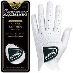 ダンロップ SRIXONゴルフグローブ 24cm 左手着用(右利き用) ホワイト
