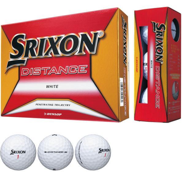 ダンロップ SRIXONスリクソン DISTANCE8 ボール 1ダース(12個入り) ホワイト