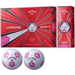 キャロウェイゴルフ CHROM SOFT CHROME SOFT TRUVIS ボール 5ダースセット 5ダース(60個入り) ホワイト/ピンク