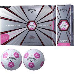 キャロウェイゴルフ CHROM SOFT CHROME SOFT X TRUVIS ボール 5ダースセット 5ダース(60個入り) ホワイト/ピンク