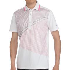 ミズノ MIZUNOソーラーカット半袖プリント柄ポロシャツ