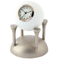 その他 ミニチュアクロックコレクション ミニチュア置時計 ゴルフボール&ティー