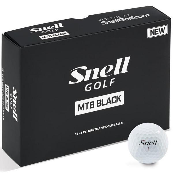 スネルゴルフ Snell GOLFMTB BLACK ボール 1ダース(12個入り) ホワイト