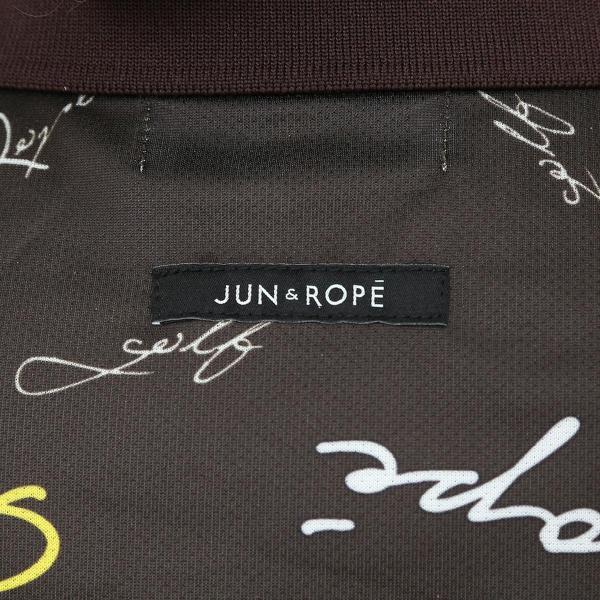 ジュン アンド ロペ JUN & ROPEタイポグラフィプリントノースリーブポロシャツ レディス