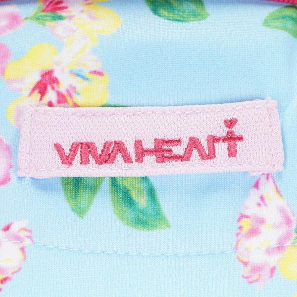 ビバハート VIVA HEARTBack Mesh フラワーot半袖ポロシャツ レディス