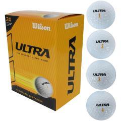 ウイルソン WilsonULTRA ゴルフボール 24個入り 24個入り ホワイト